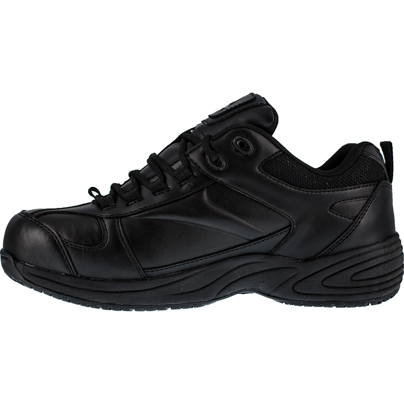 cac0c3c4d6f Black Athletic Reebok Composite Toe Met Guard Work Shoe
