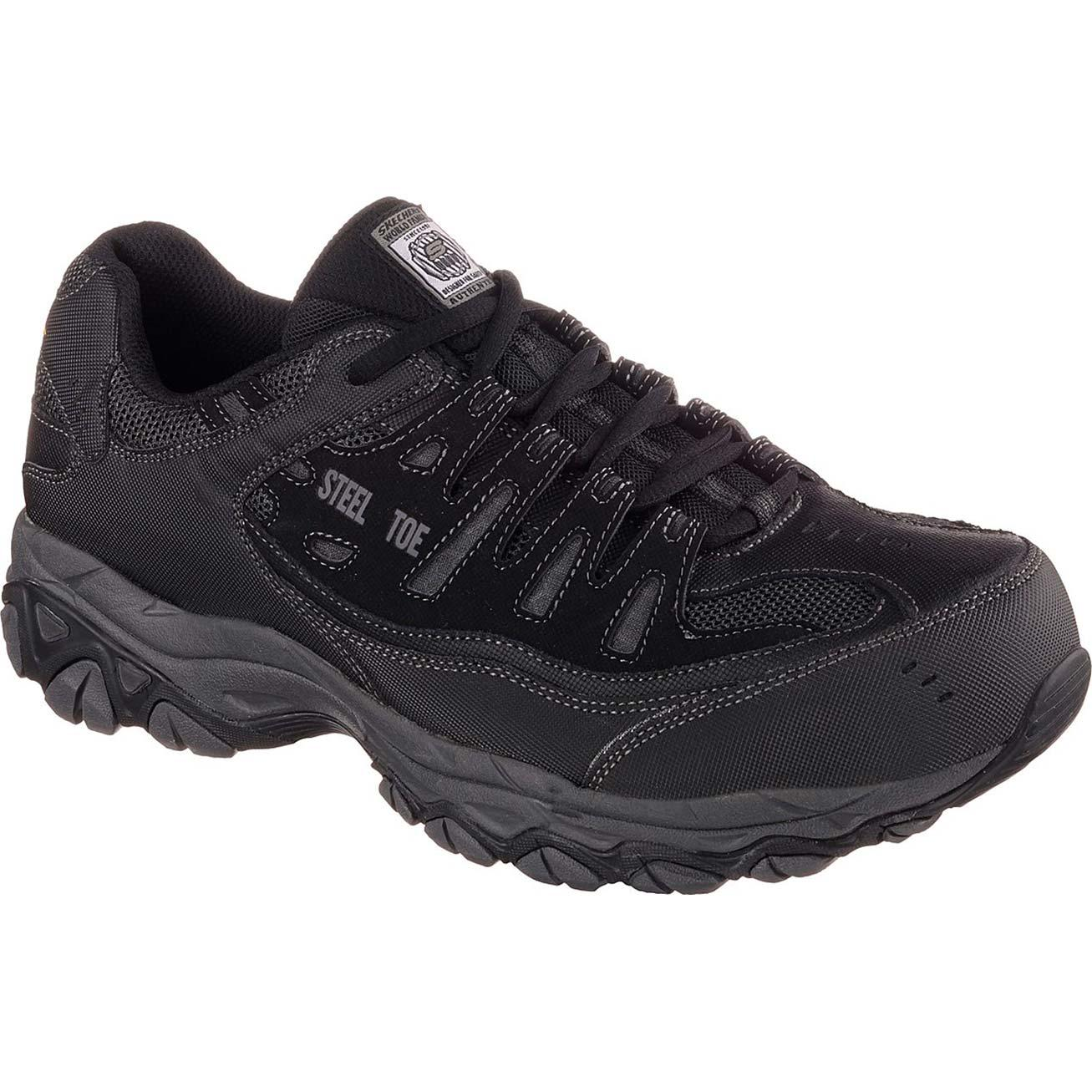 SKECHERS Work Relaxed Fit Crankton Steel Toe Work Athletic Shoe 77055BKCC