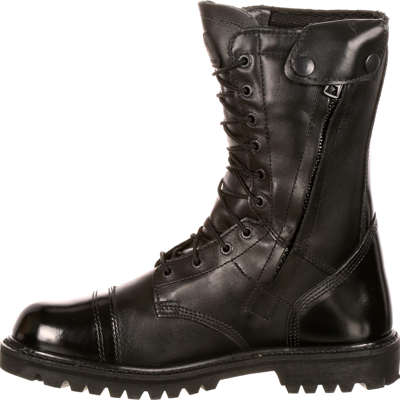 Men S Waterproof Zipper Paratrooper Boots Rocky Fq0002095