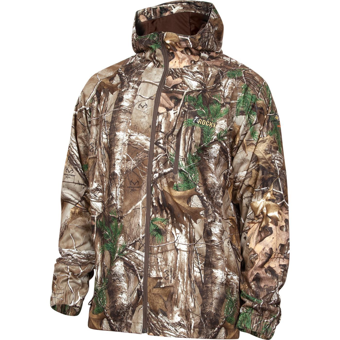 realtree camo waterproof rain jacket rocky silenthunter