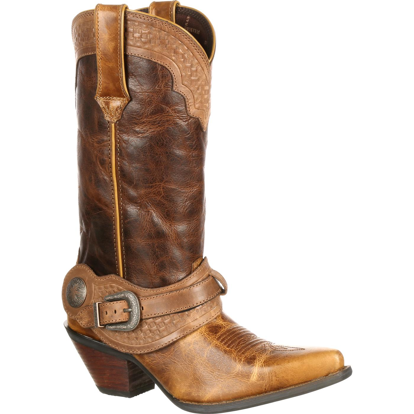 Removing cowboy boots to show soles 2