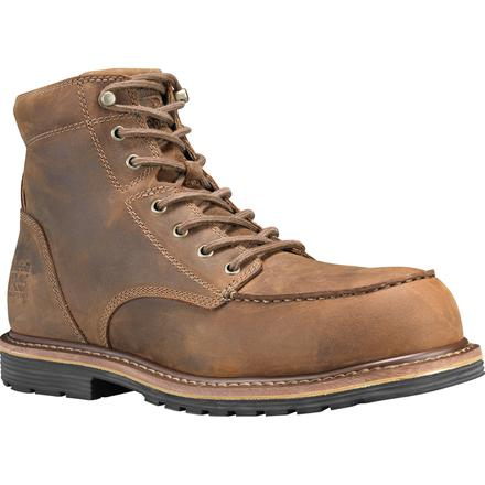a994948124b Timberland PRO Millworks Moc Toe Men's 6 inch Composite Toe Electrical  Hazard Leather Work Boot
