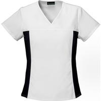 Cherokee Women's Flexible White V-Neck Top, , medium