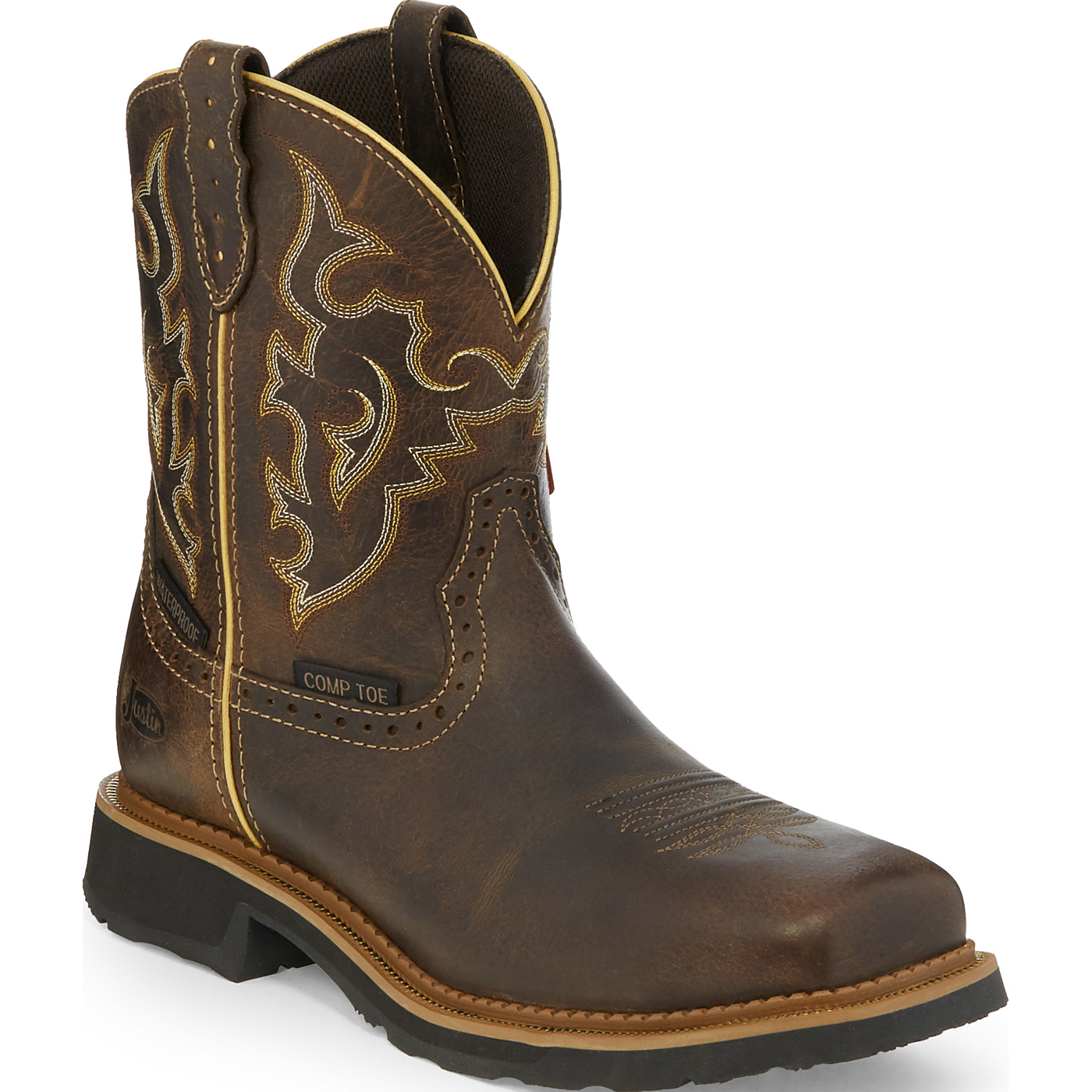 Justin Work Gypsy Women s 8 inch Composite Toe Electrical Hazard Waterproof  Pull-on Western Work BootJustin Work Gypsy Women s 8 inch Composite Toe ... 79c2b694f6