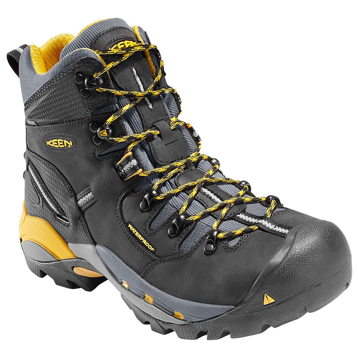 Keen Black Steel Toe Shoes