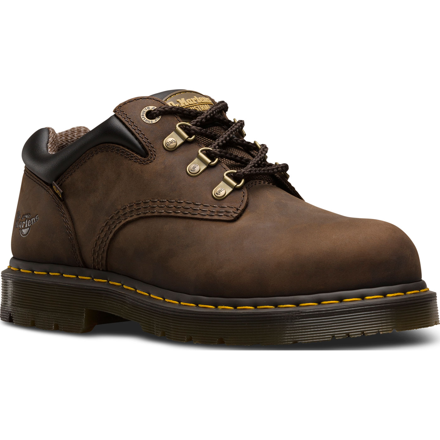 afea1306f6b Dr. Martens Hylow Men's Steel Toe Static Dissipative Brown Work Oxford