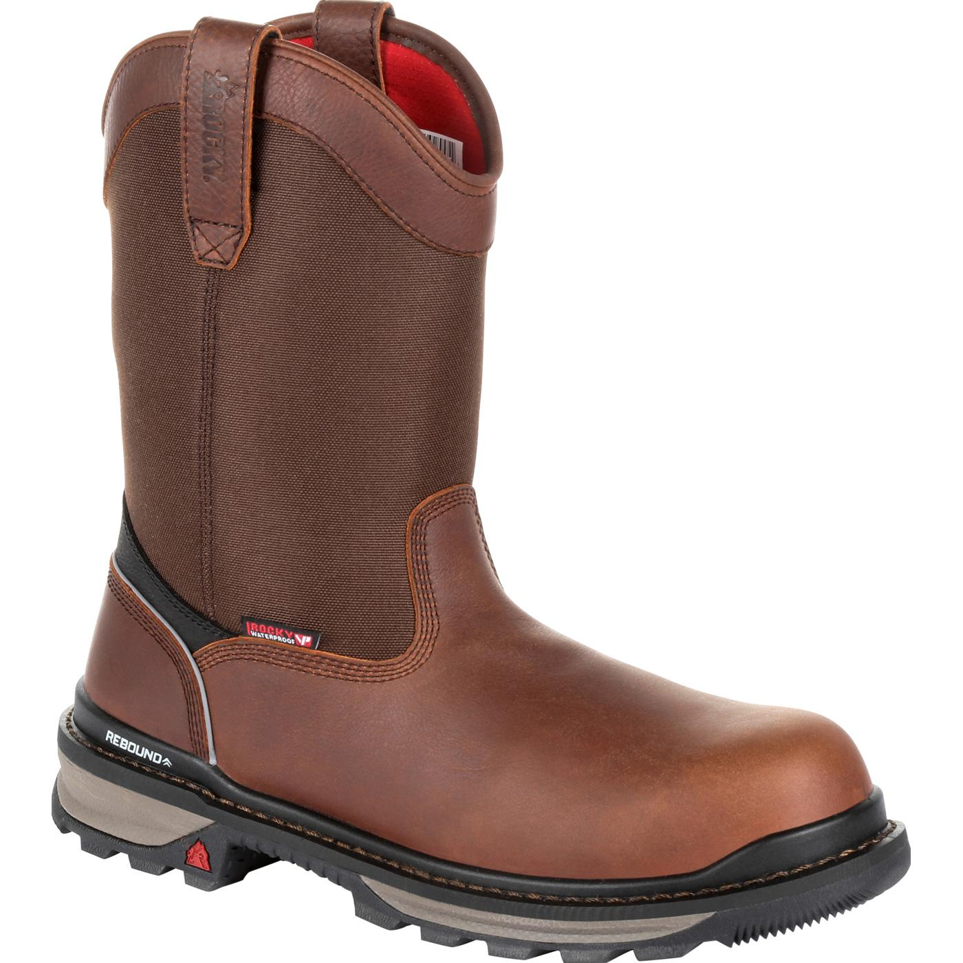 a9946f68992 Rocky Rams Horn Waterproof Composite Toe Pull-On Work Boot