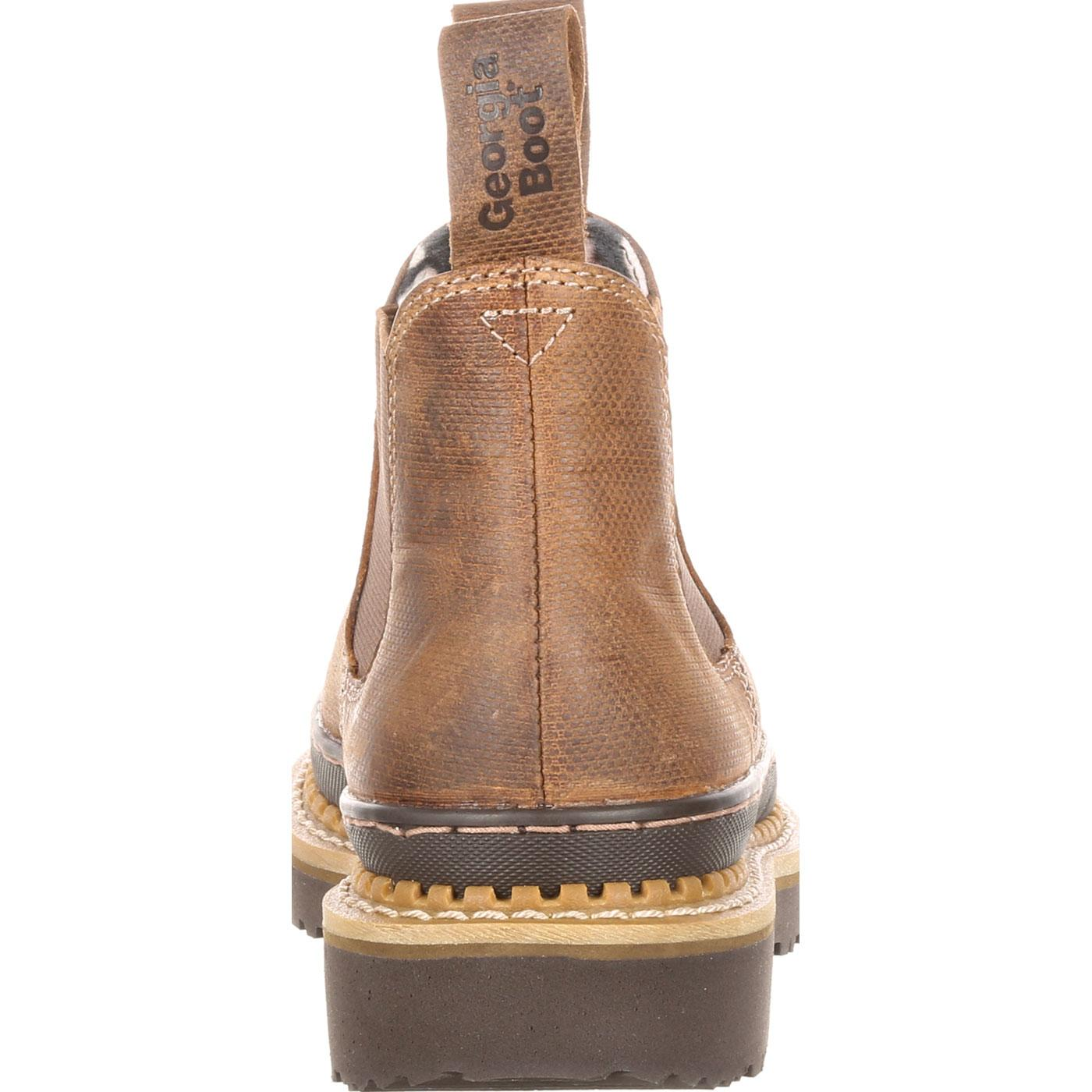 0af596af342 Georgia Giant Women s Embossed High Romeo. Brown leather slip-on shoe ...