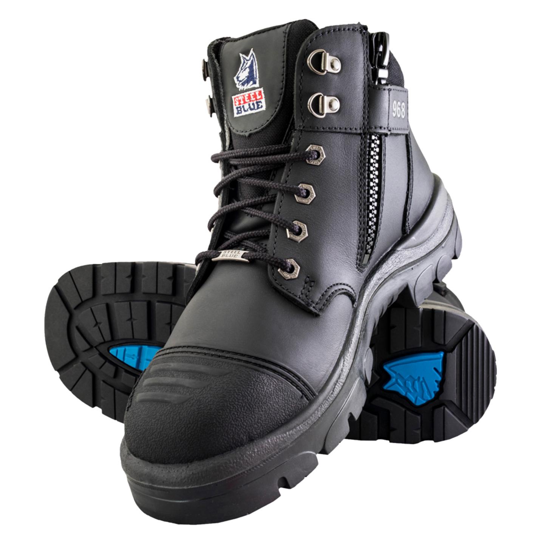 fba405c52ba Steel Blue Parkes Zip Steel Toe Side Zip Work Boot