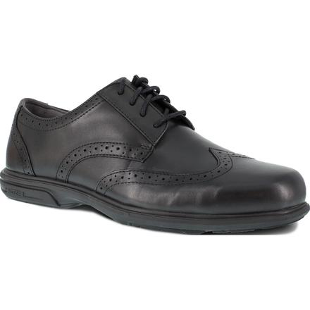 Florsheim Work Loedin Men's Steel Toe Static-Dissipative Black Dress Wingtip Oxford, , large