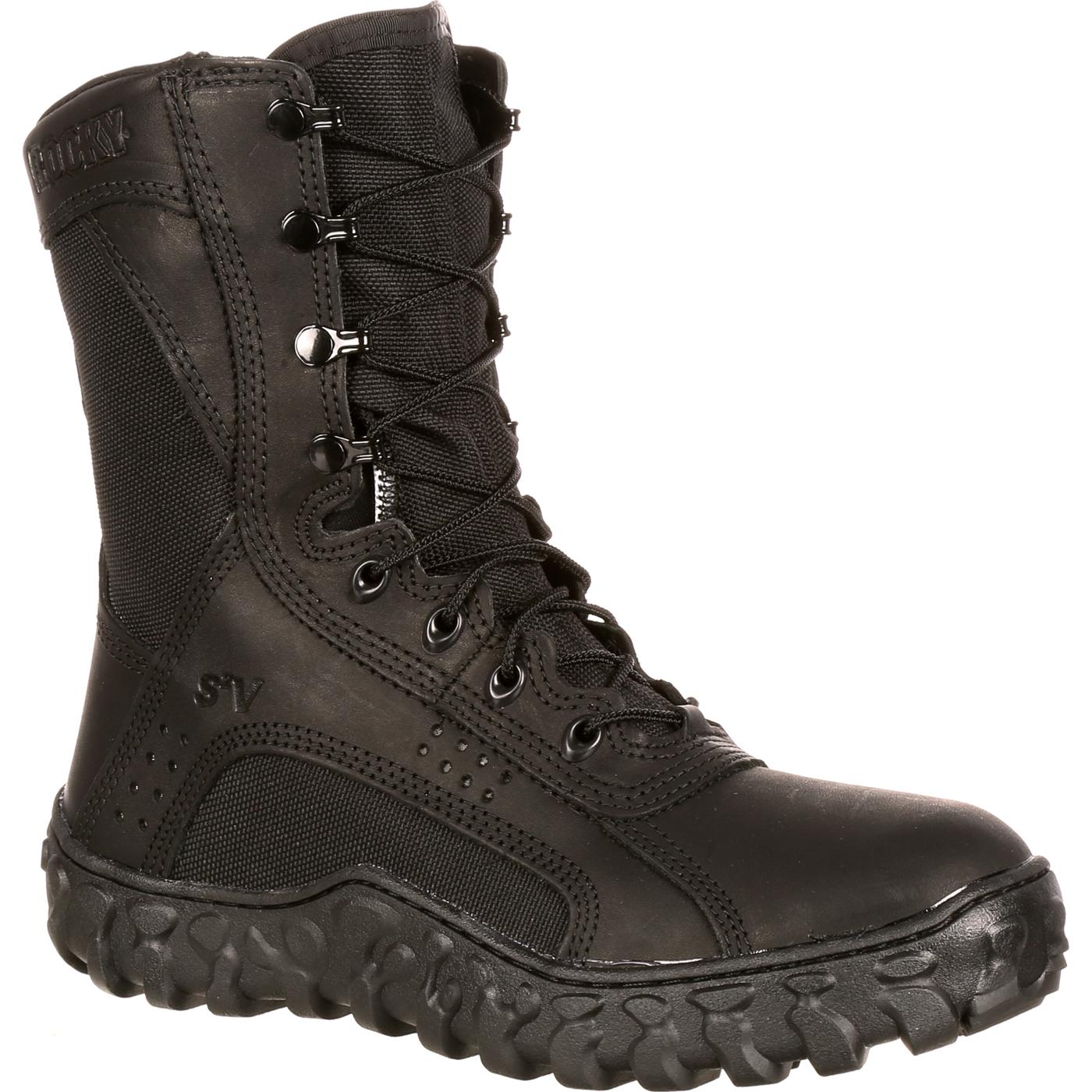 American Made Black Military Boots Rocky S2v Fq0000102