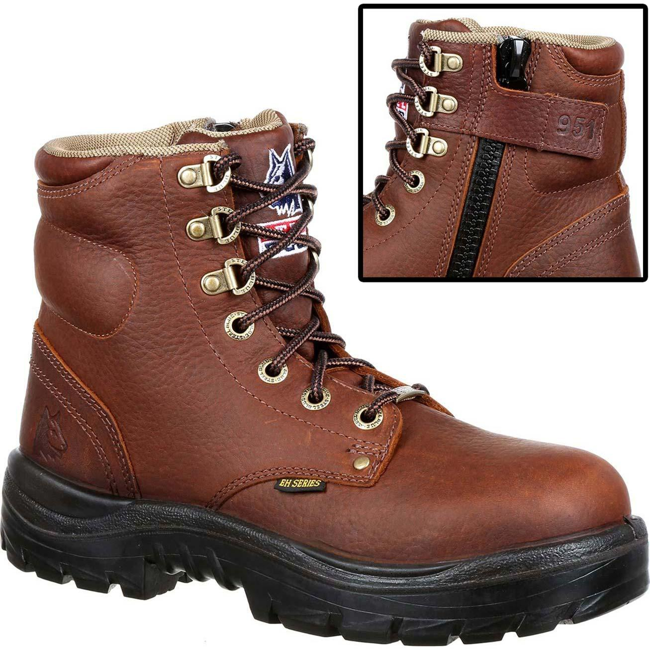 3f980d0d271 Steel Blue Argyle Zip Steel Toe Work Boot
