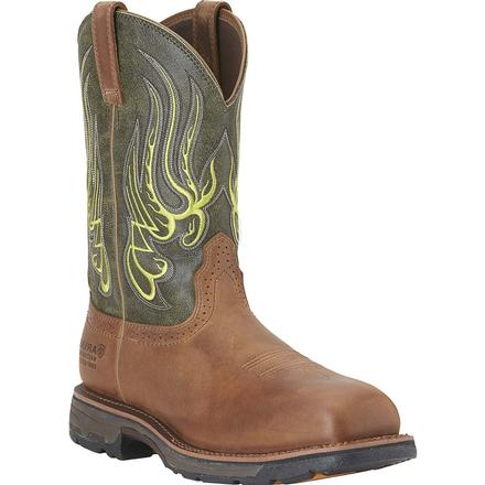 Ariat Workhog Mesteno H2O Composite Toe Waterproof Western Work Wellington, , large