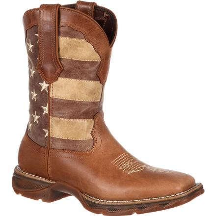Lady Rebel™ by Durango® Women's Faded Union Flag Western Boot, , large