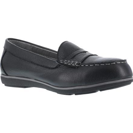 Women's Steel Toe SD Black Penny Loafer