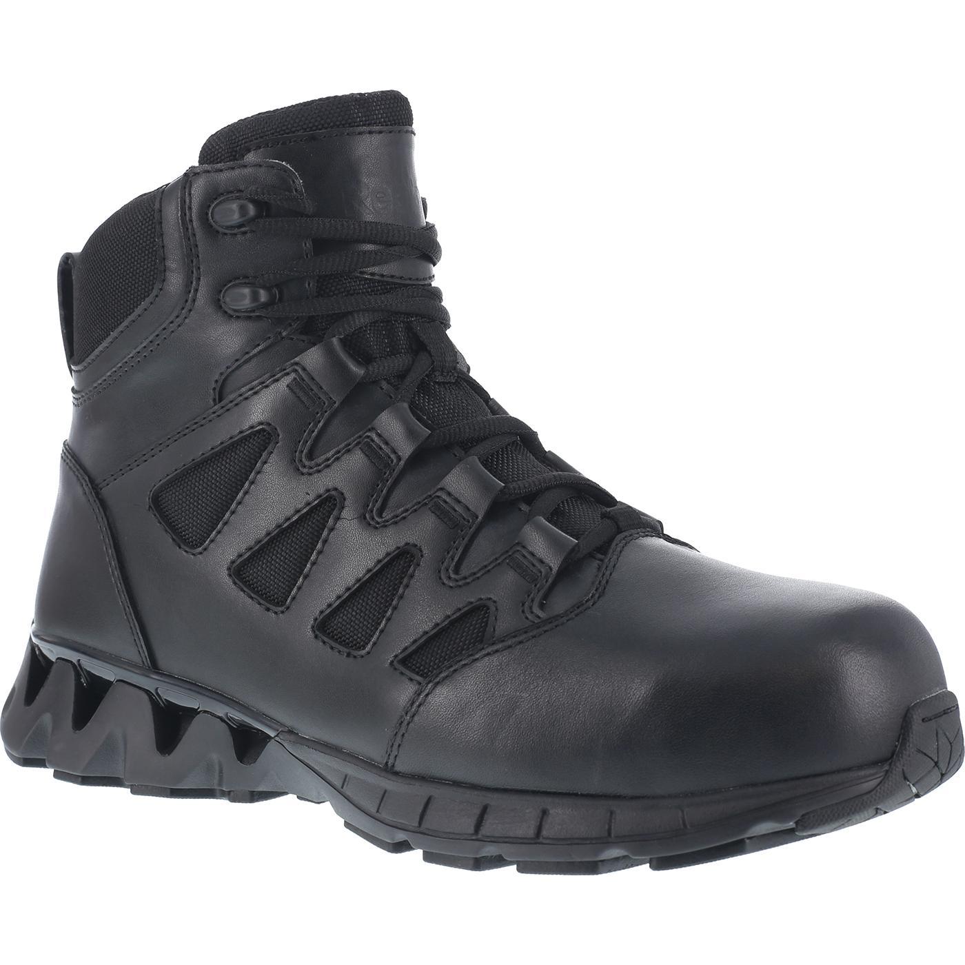 Side Zip Tactical Composite Toe Duty Boot Reebok Zigkick