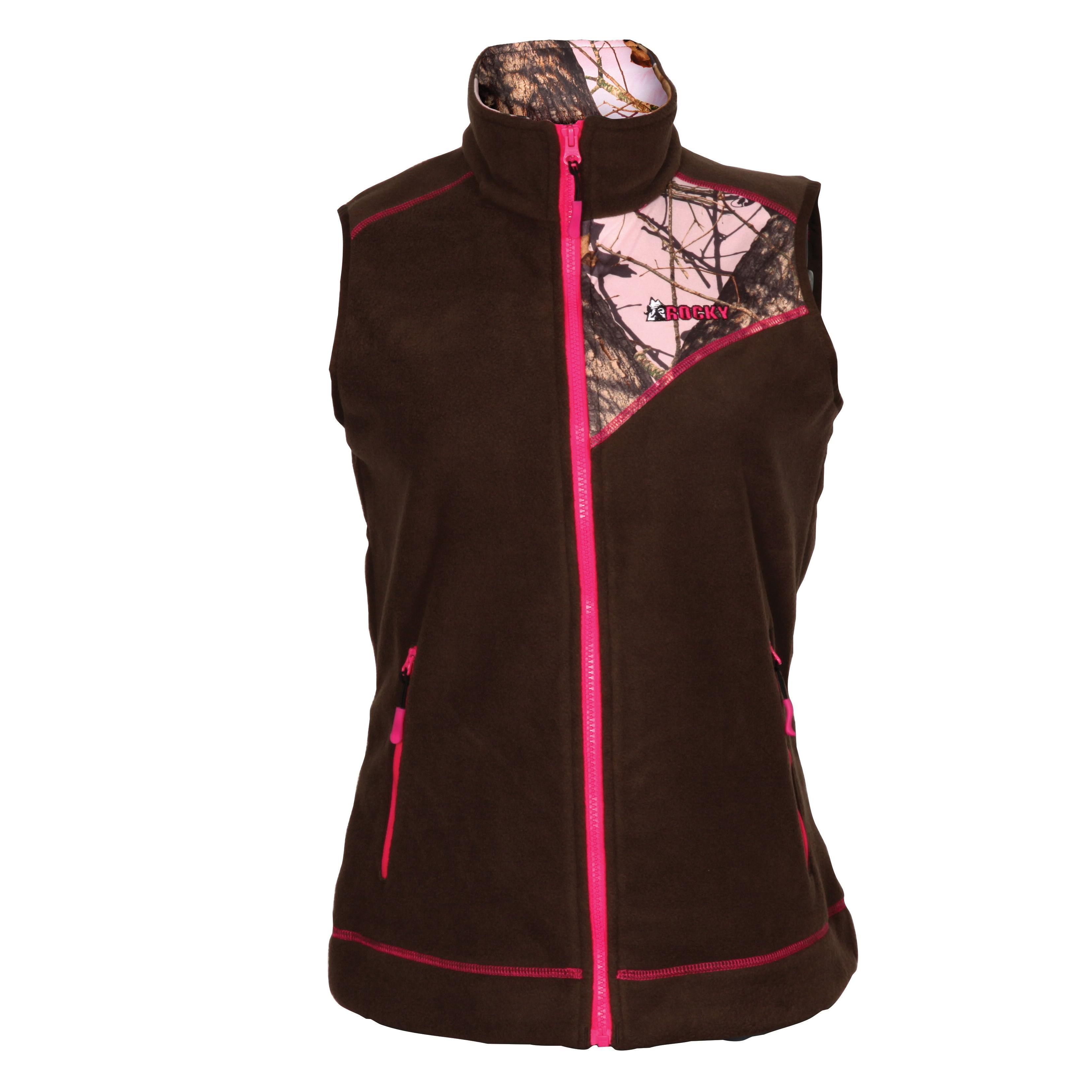 ffd31d7dffce7 Rocky Women's Full Zip Fleece VestRocky Women's Full Zip Fleece Vest, Brown  MOPink
