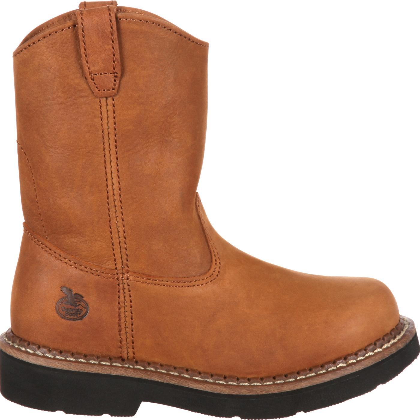 Childrens Brown Pull On Boots Georgia Boot Style Gb202 Inside Wedges Johanna Black Kids Wellington
