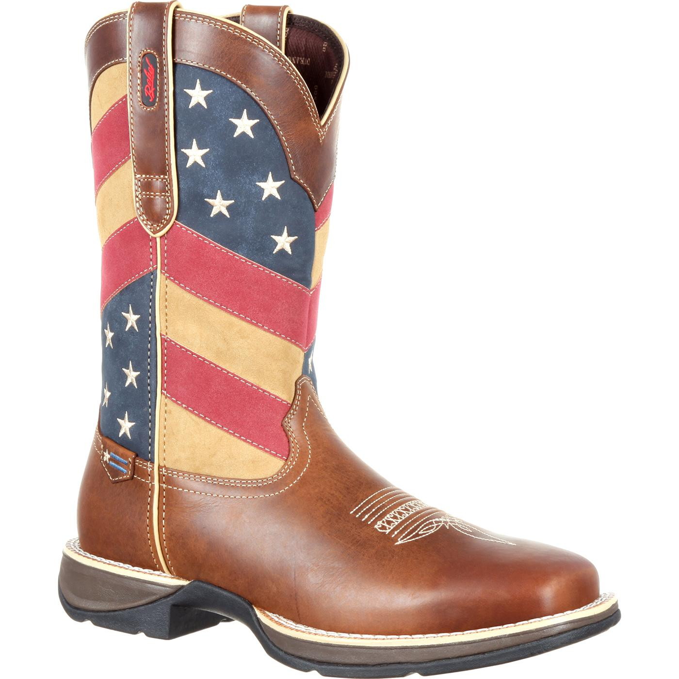 e9016ca5c6b Rebel by Durango Patriotic Pull-On Western Flag Boot