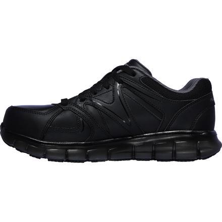 SKECHERS Work Synergy Ekron Men's Alloy Toe Electrical Hazard Leather Athletic Work Shoe