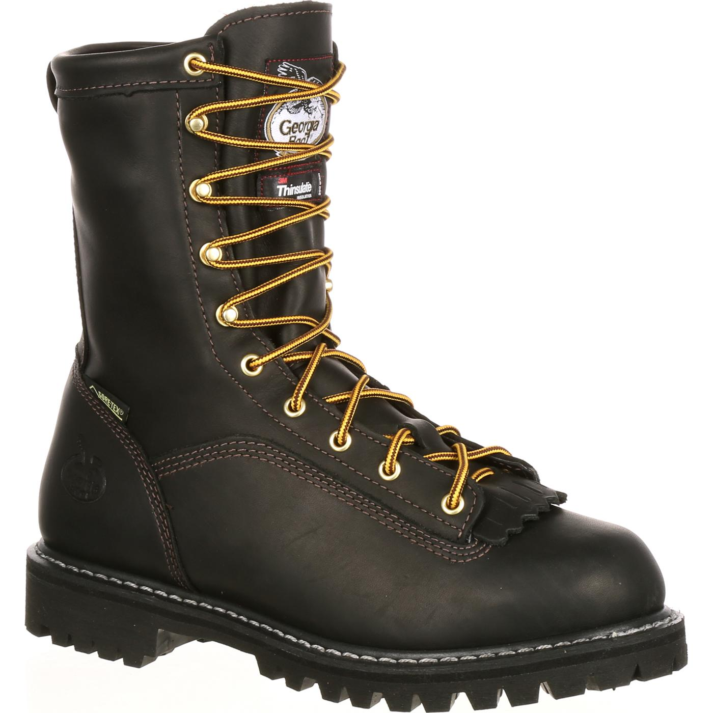Men S Insulated Lace To Toe Work Boot Georgia Boot G8040