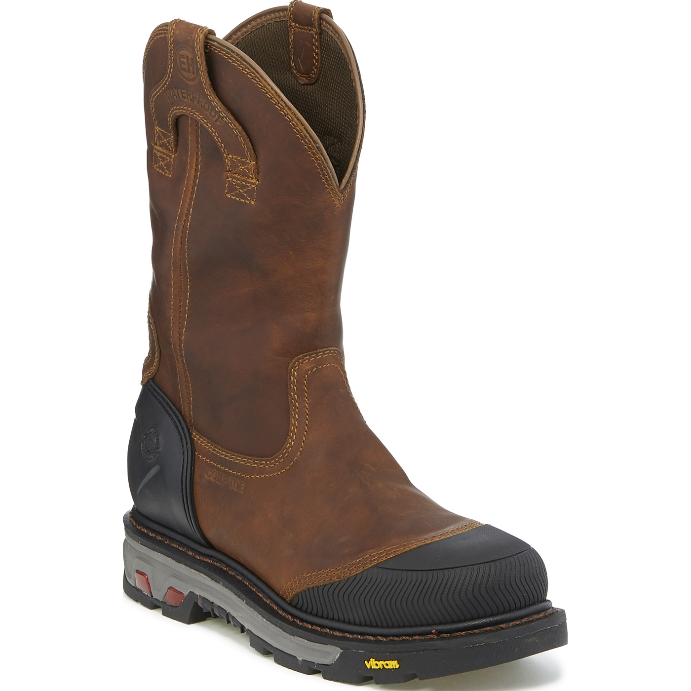 a8239bc9f12 Justin Original Workboots Warhawk Men's 11 inch Composite Toe Electrical  Hazard Waterproof Pull-on Work Boot
