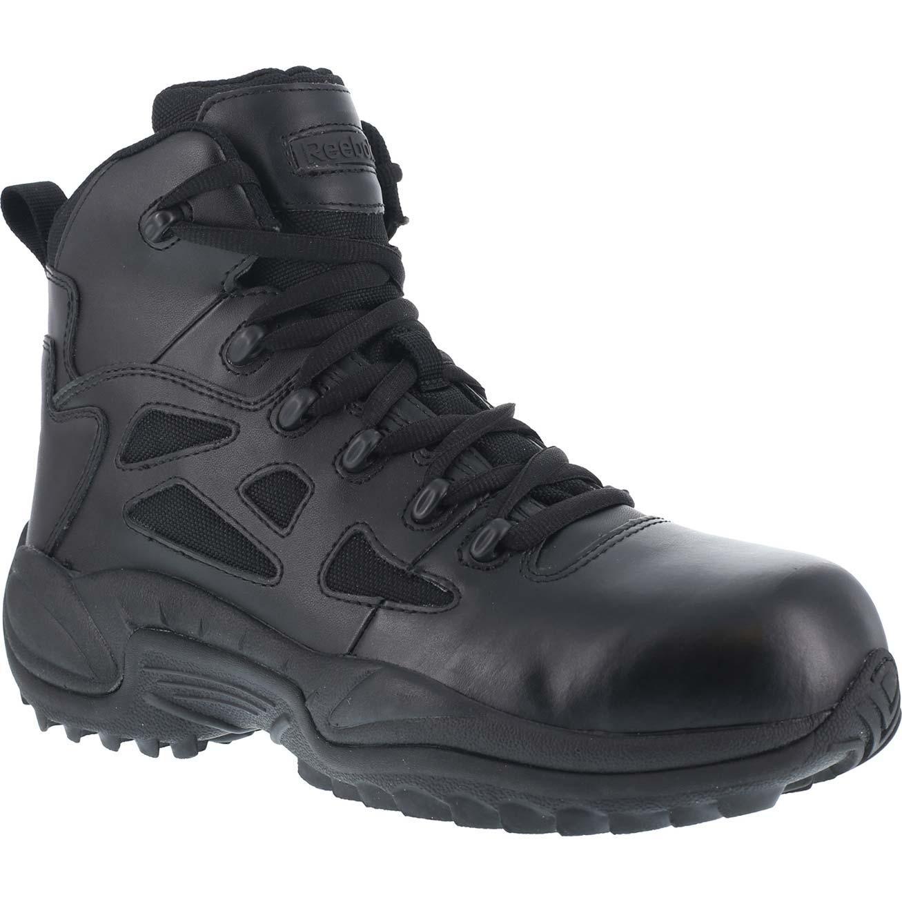 df6d55a84ab Reebok Rapid Response RB Composite Toe Side Zip Duty Shoe