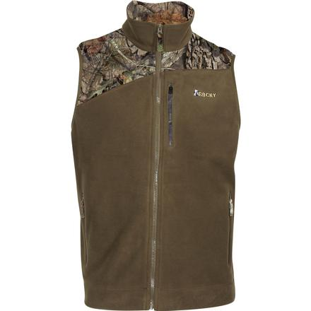 Rocky Full Zip Fleece Vest, Beech, large